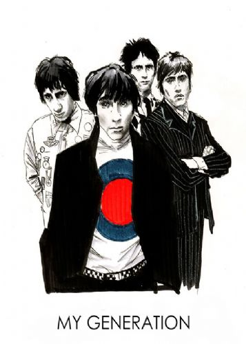 THE WHO - MY GENERATION - WHITE canvas print - self adhesive poster - photo print